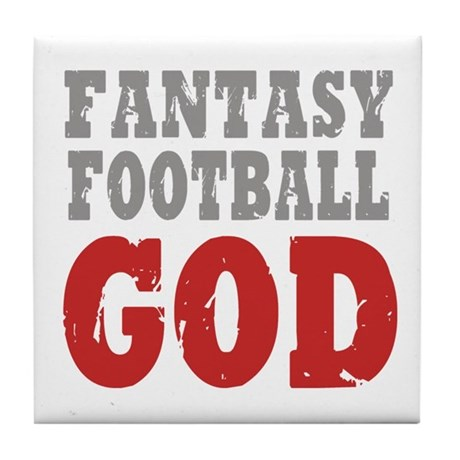 Fantasy Football God Tile Coaster