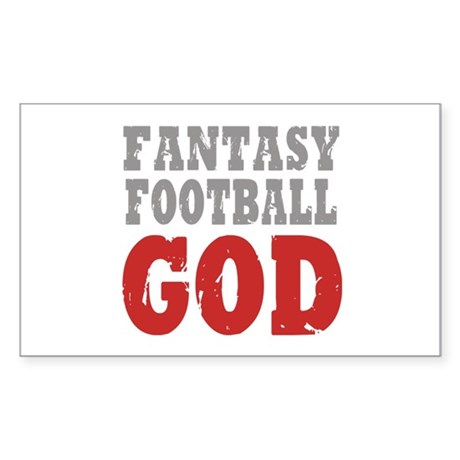 Fantasy Football God Rectangle Sticker