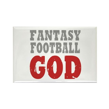 Fantasy Football God Rectangle Magnet (10 pack)