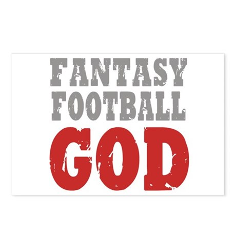 Fantasy Football God Postcards (Package of 8)