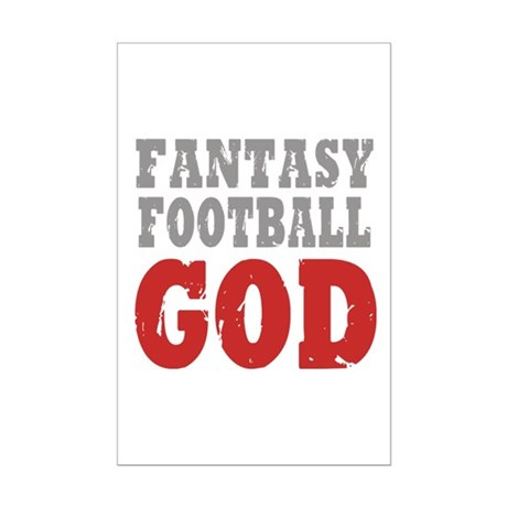 Fantasy Football God Mini Poster Print