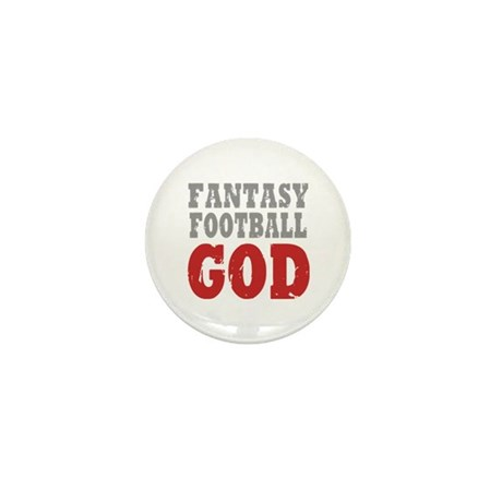 Fantasy Football God Mini Button