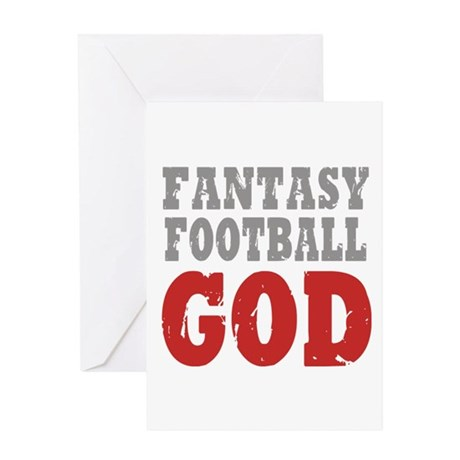 Fantasy Football God Greeting Card