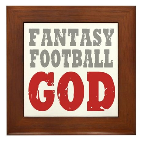 Fantasy Football God Framed Tile