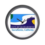Sacramento CA Flag Wall Clock