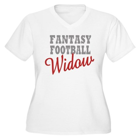 Fantasy Football Widow Women's Plus Size V-Neck T-