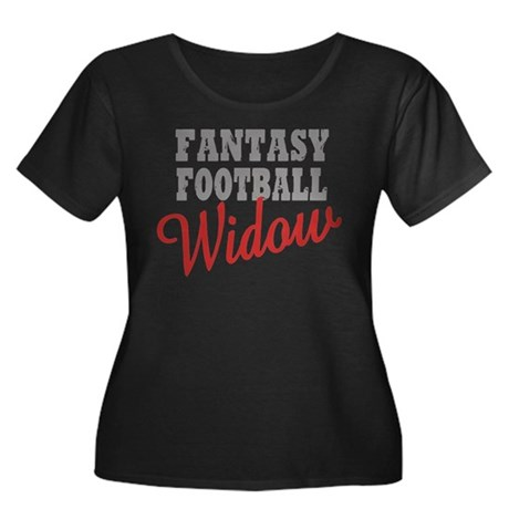 Fantasy Football Widow Women's Plus Size Scoop Nec