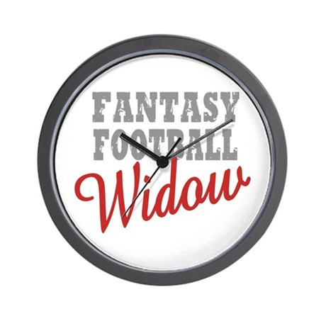 Fantasy Football Widow Wall Clock