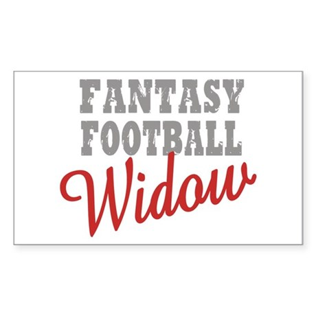 Fantasy Football Widow Rectangle Sticker