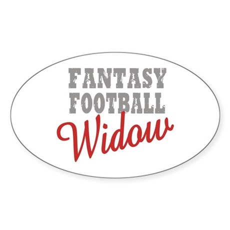 Fantasy Football Widow Oval Sticker