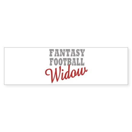 Fantasy Football Widow Bumper Sticker