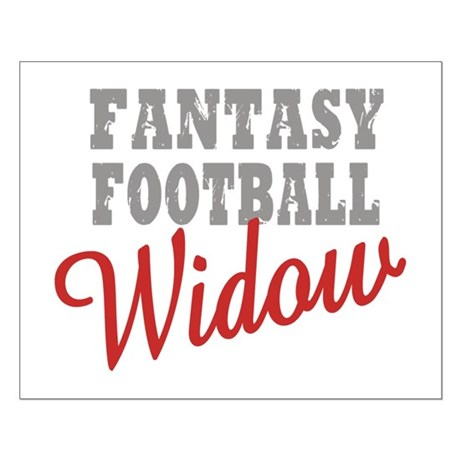 Fantasy Football Widow Small Poster