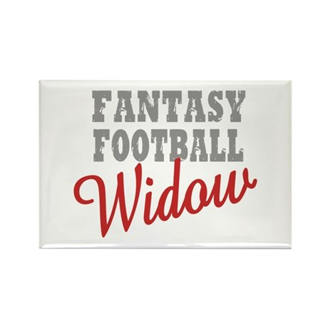 Fantasy Football Widow Rectangle Magnet (10 pack)