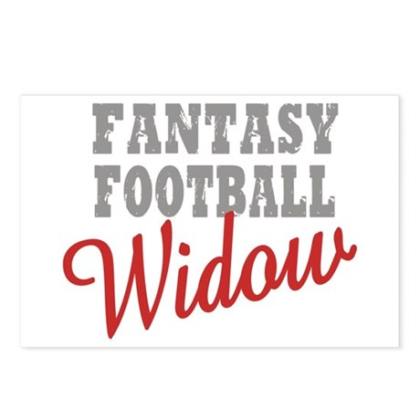 Fantasy Football Widow Postcards (Package of 8)