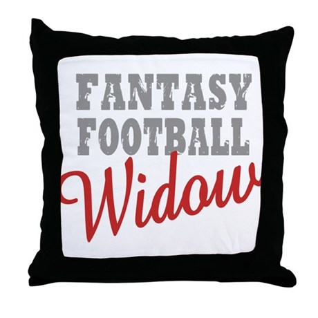 Fantasy Football Widow Throw Pillow