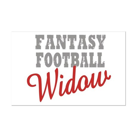 Fantasy Football Widow Mini Poster Print