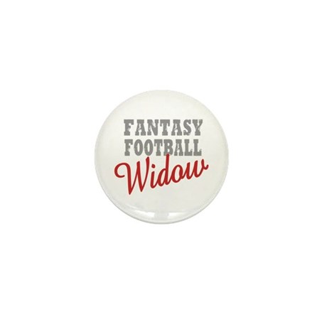Fantasy Football Widow Mini Button (10 pack)