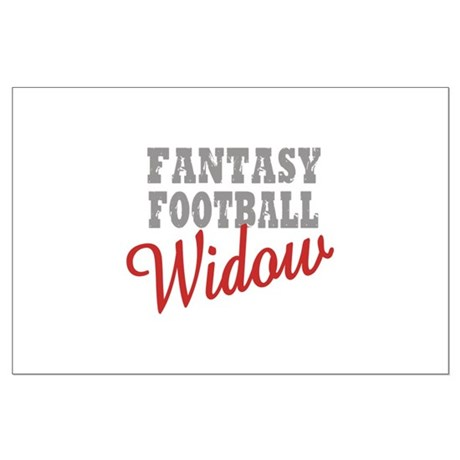 Fantasy Football Widow Large Poster