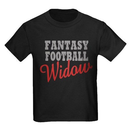 Fantasy Football Widow Kids Dark T-Shirt
