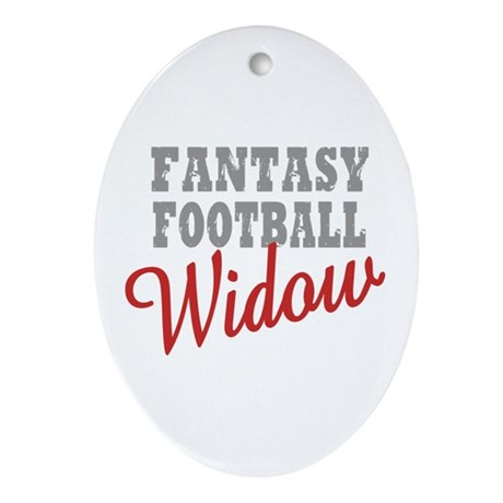 Fantasy Football Widow Oval Ornament