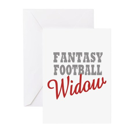 Fantasy Football Widow Greeting Cards (Pk of 20)