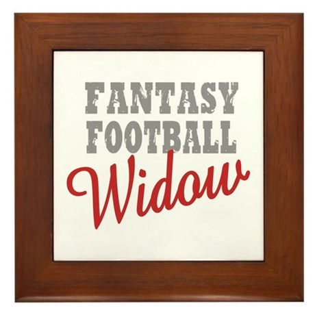 Fantasy Football Widow Framed Tile