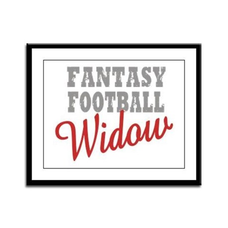 Fantasy Football Widow Framed Panel Print