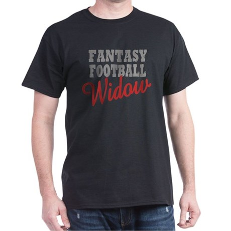 Fantasy Football Widow Dark T-Shirt