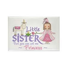 Unicorn Princess Little Sister Rectangle Magnet