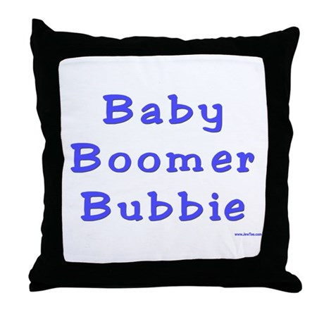Bubbie the Baby Boomer Throw Pillow