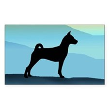Blue Mountains Basenji Rectangle Decal