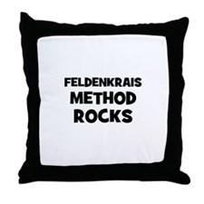 Feldenkrais Method Rocks Throw Pillow