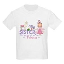 Unicorn Princess Big Sister T-Shirt