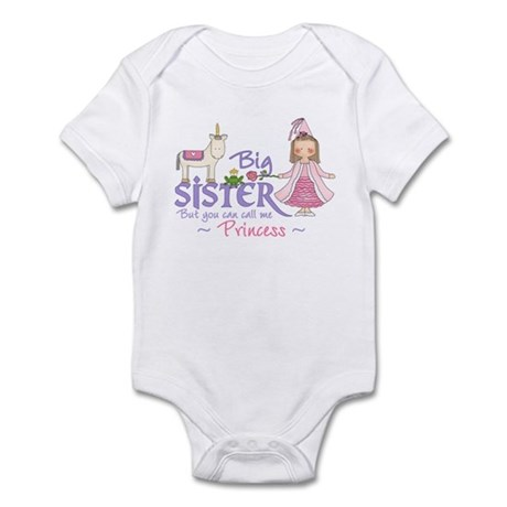 Unicorn Princess Big Sister Infant Bodysuit