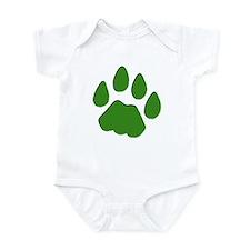 Green Cougar Track Infant Bodysuit