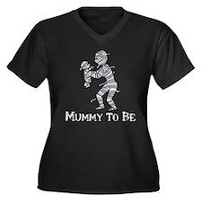 Halloween Mummy Women's Plus Size V-Neck Dark T-Sh