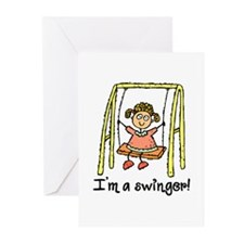 I'm a Swinger! Greeting Cards (Pk of 20)