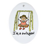 I'm a Swinger! Oval Ornament