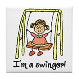 I'm a Swinger! Tile Coaster