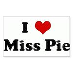 I Love Miss Pie Rectangle Sticker