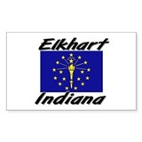 Elkhart Indiana Rectangle Decal