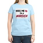 Kiss Me I'm a WARDEN Women's Light T-Shirt