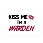 Kiss Me I'm a WARDEN Postcards (Package of 8)