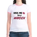 Kiss Me I'm a WARDEN Jr. Ringer T-Shirt