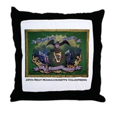 28th Massachusetts Throw Pillow