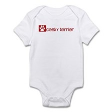 Cesky Terrier (dog paw red) Infant Bodysuit
