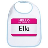 Ella Hello My Name Is Tag Bib