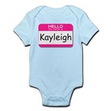 Kayleigh Hello My Name is Tag Infant Bodysuit