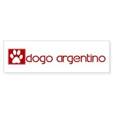 Dogo Argentino (dog paw red) Bumper Bumper Sticker