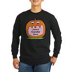 Halloween Insert Candy Here Long Sleeve Dark T-Shi